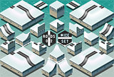 Roads 07 Tiles Isometric