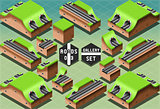 Roads 10 Tiles Isometric