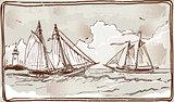 Sailing Ships 01 Vintage 2D