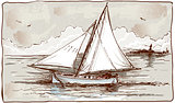 Sailing Ships 02 Vintage 2D