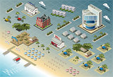 Seaside 01 Building Isometric