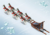 Sled Dogs 02 Vehicle Isometric