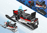 Snowmobile 01 Vehicle Isometric