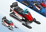 Snowmobile 02 Vehicle Isometric