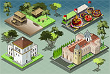 South America Building Isometric