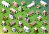 Spring European Building Isometric