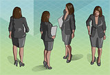 Standing Woman 01 People Isometric