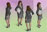 Standing Woman 02 People Isometric