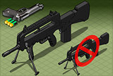 Submachine Pistol Weapons Isometric