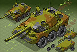 Tank 01 Vehicle Isometric