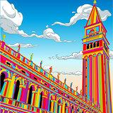 Venice Rainbow Banner 2D