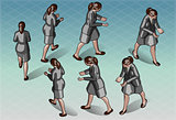 Walking Woman 02 People Isometric