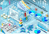 Winter Set Infographic Isometric