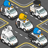 Worker Trucks 01 Vehicle Isometric