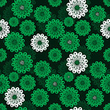 Seamless floral green spring pattern
