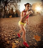 Jogging in autumn