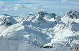 Silvretta Alps winter view (Austria).