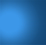 blue radial light effect gradient in halftone style