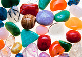Collection of Colorful Semiprecious Gemstones.