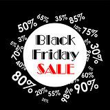 Vector illustration. Black Friday sales. Black poster.  Black banner.