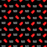 Vector illustration. Banner Black Friday sales. Seamless pattern