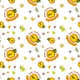 Vector Illustration. Thanksgiving seamless pattern with pumpkin