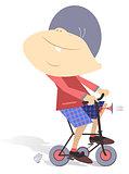 Child on the bike
