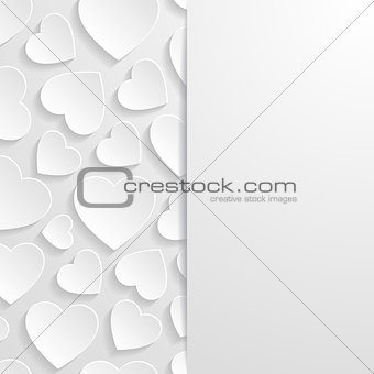 Abstract background with hearts. Vector illustration.