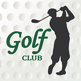 Golf club sign - vector illustration