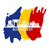 Bucharest City Skyline