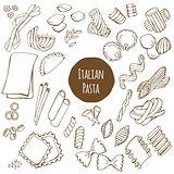 Italian Pasta Vector Set