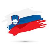 Vector Flag of Slovenia