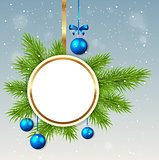 Round Christmas banner