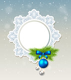 Decorative Christmas banner