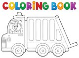 Coloring book garbage collection truck