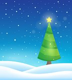 Stylized Christmas tree topic image 1