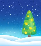 Stylized Christmas tree topic image 4