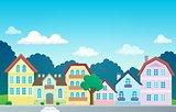 Stylized town theme image 1