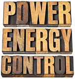 power, energy and control abstract