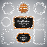 White Christmas Lights on Blackboard