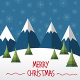 Christmas card  in flat style