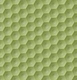 Seamless green hexagon pattern