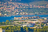 Split suburbs Vranjic and Kastela aerial view