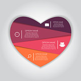 Infographic Heart Templates for Business Vector Illustration.