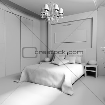 Bedroom in contemporary style