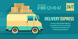 Flyer design for freight delivery transport with minibus