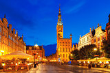 Long Market Street with Town Hall, Gdansk, Poland