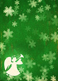 Grunge Christmas background with angel