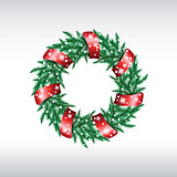 Green christmas wreath.