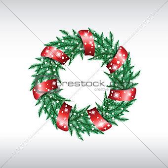 Green christmas wreath.